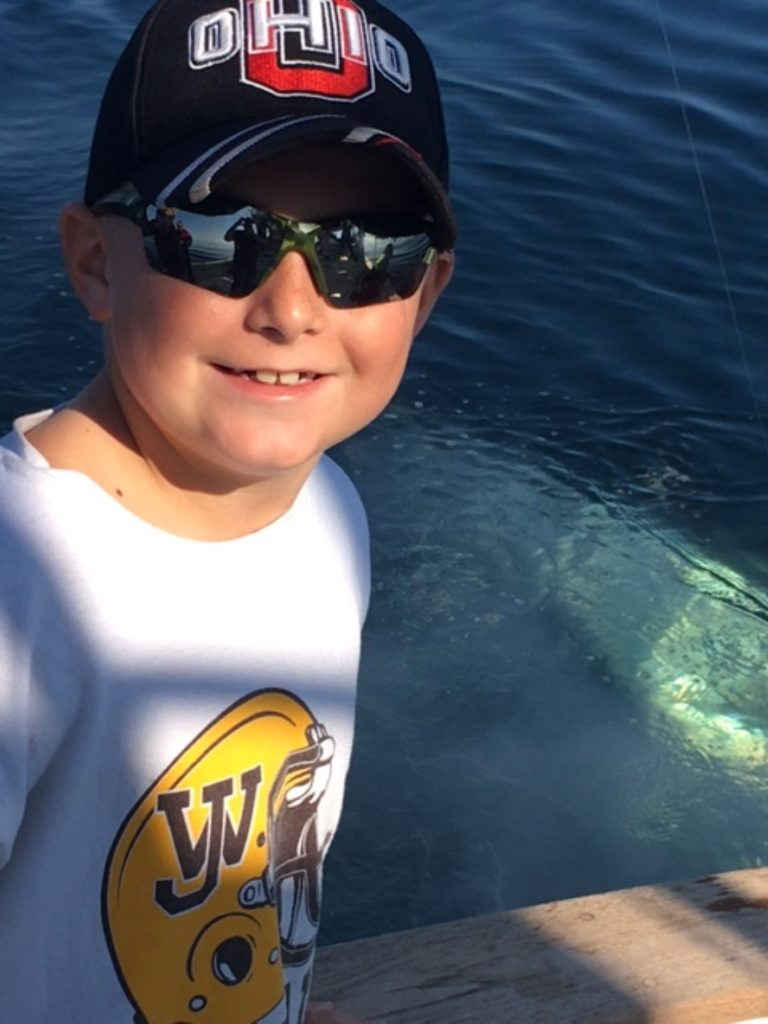 Young Bluefin Angler on Tuna Hunter