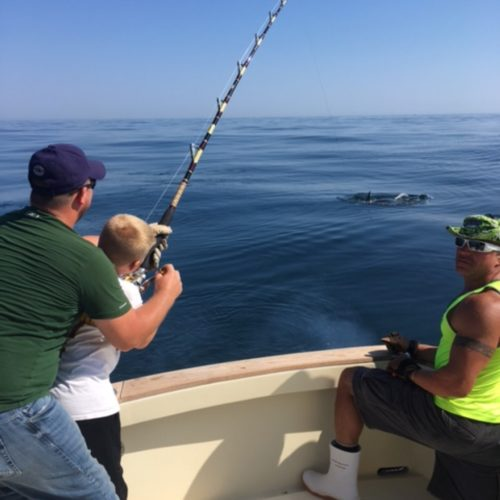 Young Angler on Giant Bluefin on Tuna Hunter