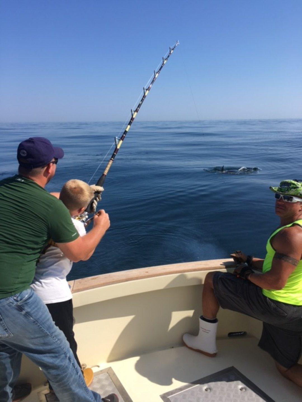 Young Angler on Giant Bluefin on Tuna Hunter