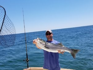 33in Striper on Tuna Hunter