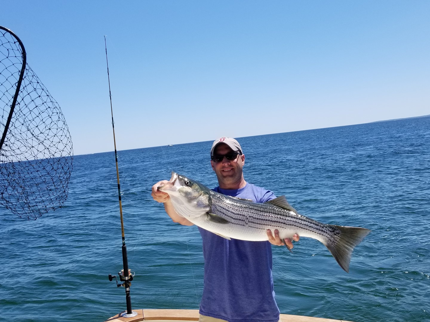 33in Striper on Tuna Hunter