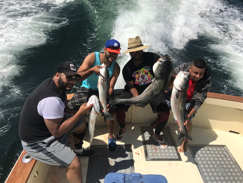 Striped Bass Fun on Tuna Hunter