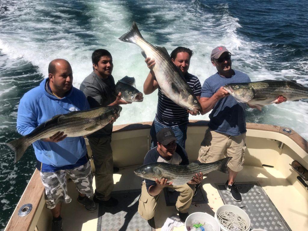 Boston Premier Remodeling Stripers on Tuna Hunter