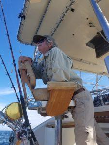 Captain on Tuna Hunter